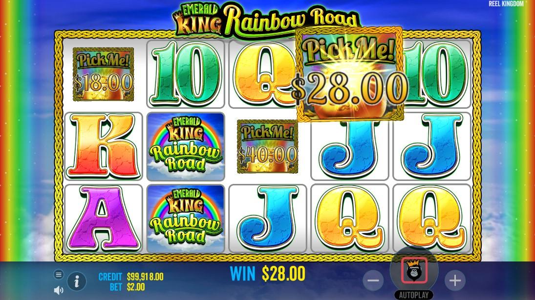 Emerald King Rainbow Road игровой автомат