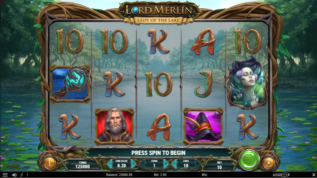 Слот Lord Merlin and the Lady of the Lake играть