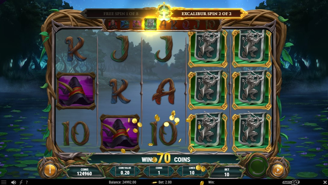 Lord Merlin and the Lady of the Lake free slot