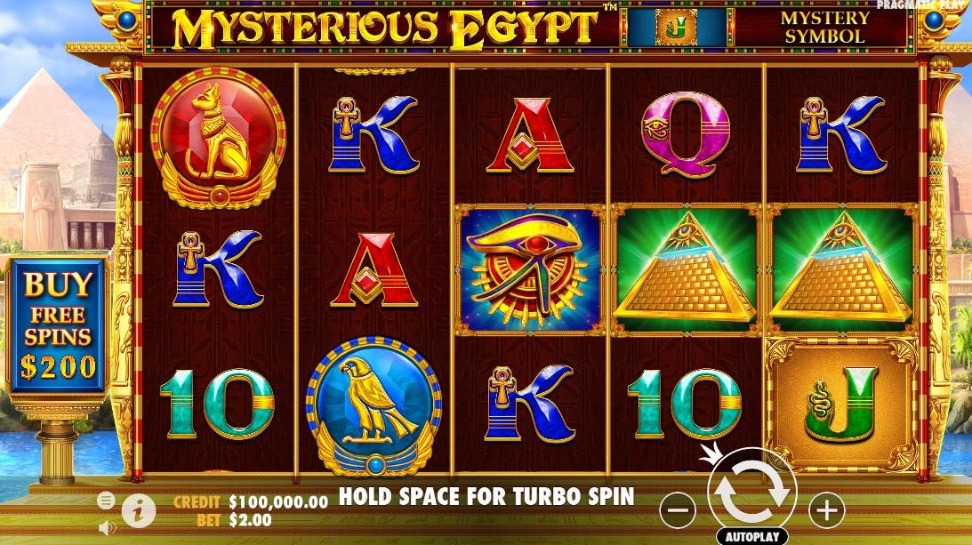free slot Mysterious Egypt