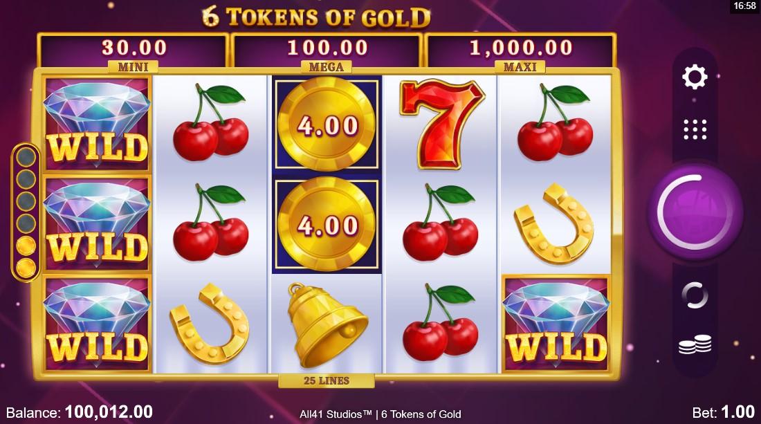 бесплатный слот 6 Tokens of Gold