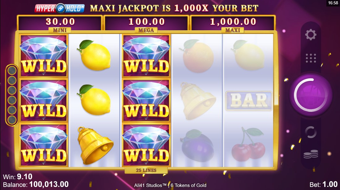 free slot 6 Tokens of Gold