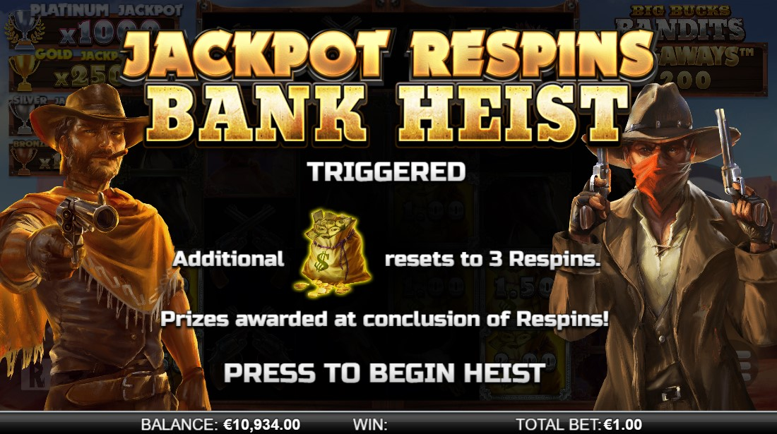 Слот Big Bucks Bandits Megaways играть