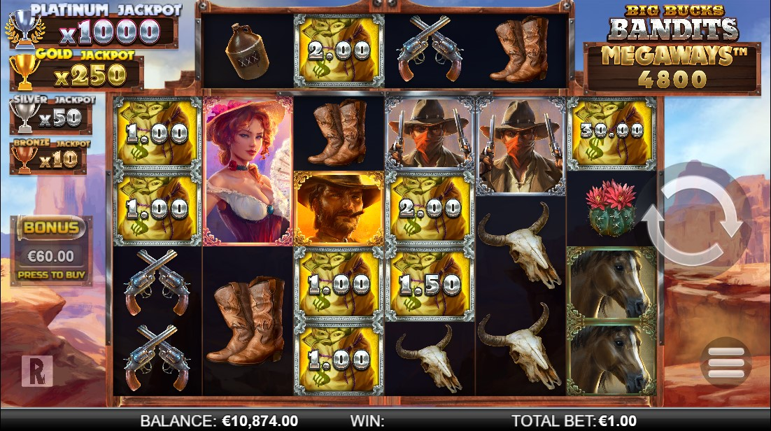 игровой автомат Big Bucks Bandits Megaways