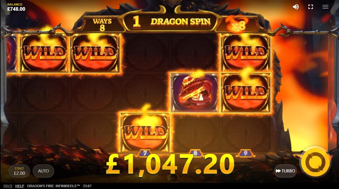 Dragon's Fire Infinireels онлайн слот