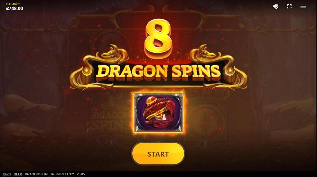 слот Dragon's Fire Infinireels играть