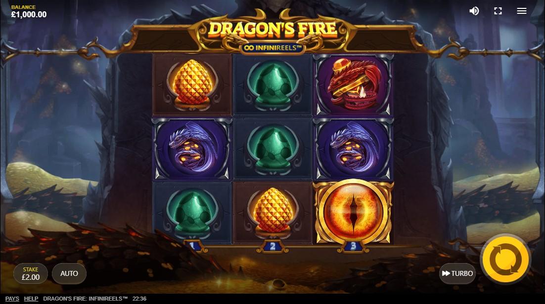 Dragon's Fire Infinireels бесплатный слот
