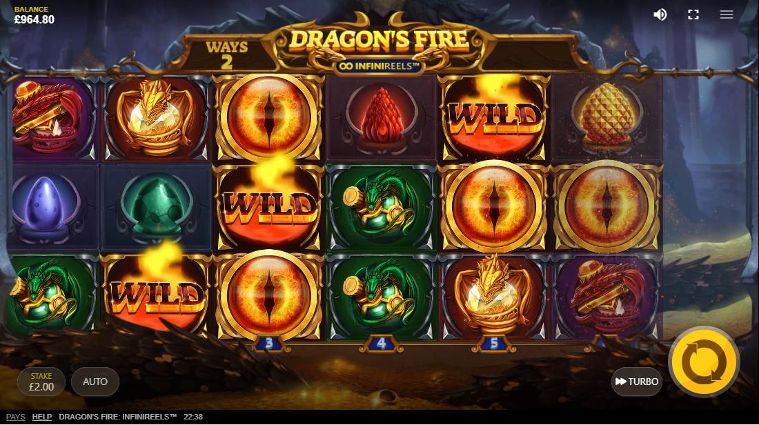 Dragon's Fire Infinireels игровой автомат