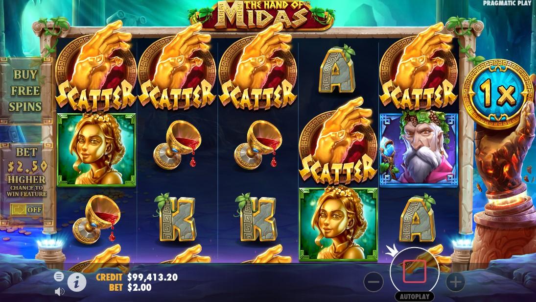 игровой автомат The Hand of Midas