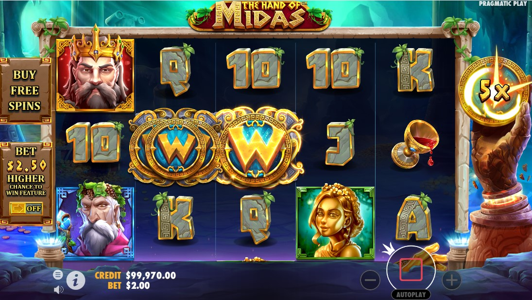 The Hand of Midas free slot
