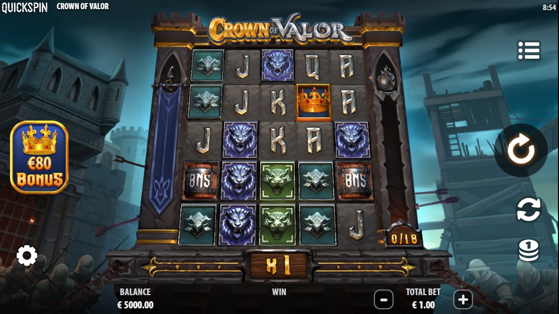 Crown of Valor free slot