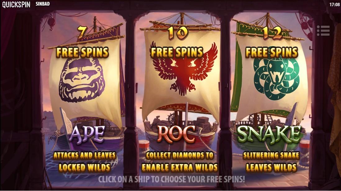 Sinbad free spins