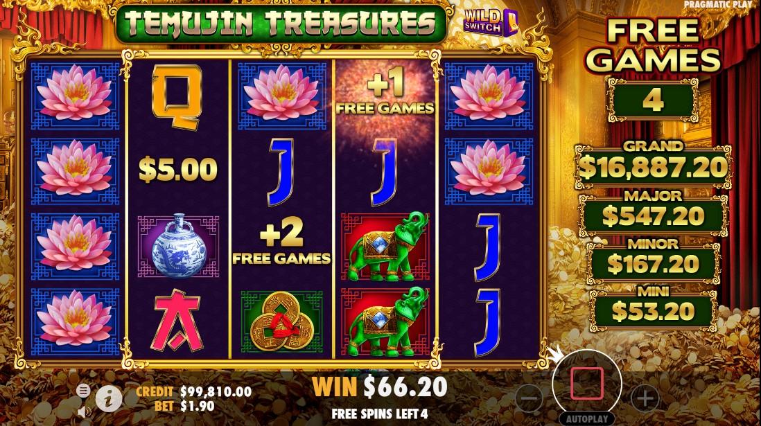 Temujin Treasures игровой автомат