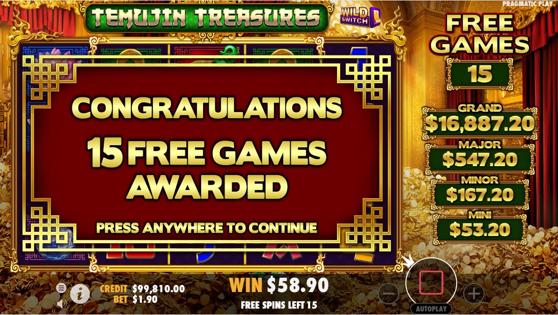Temujin Treasures онлайн слот
