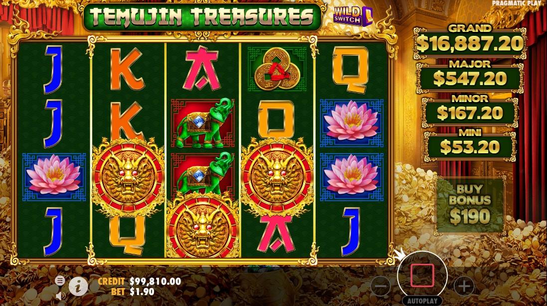 онлайн слот Temujin Treasures
